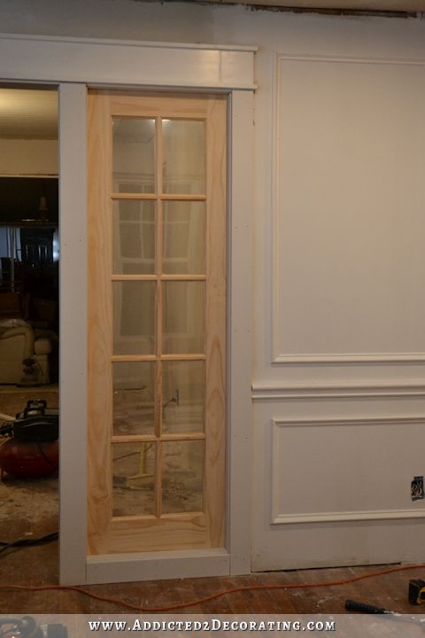Stationary Built-In French Door Panels (French Doors Used As Interior Sidelights) - Basic Build