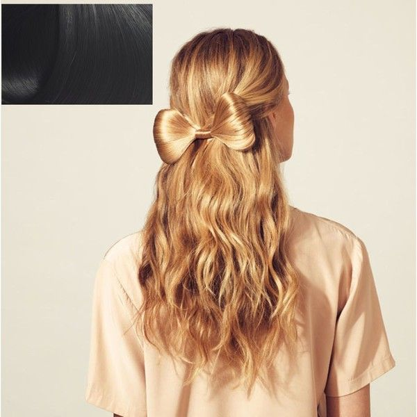 Medium hair bow ($38) ❤ liked on Polyvore featuring beauty products, haircare, hair styling tools, hair, hairstyles, hair styles, beauty and hershesons