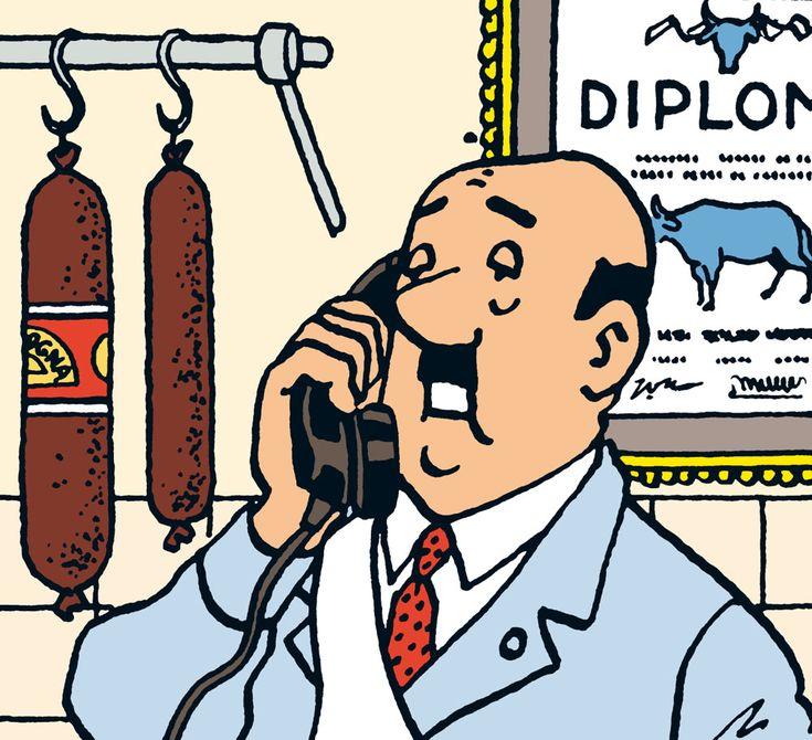 Mr. Cutts, the butcher - The Castafiore Emerald • Tintin, Herge j'aime