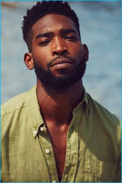 MR PORTER | Tinie Tempah wears slim-fit linen shirt Aspesi.