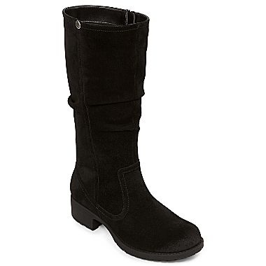 worthington 174 casey suede boots jcpenney black