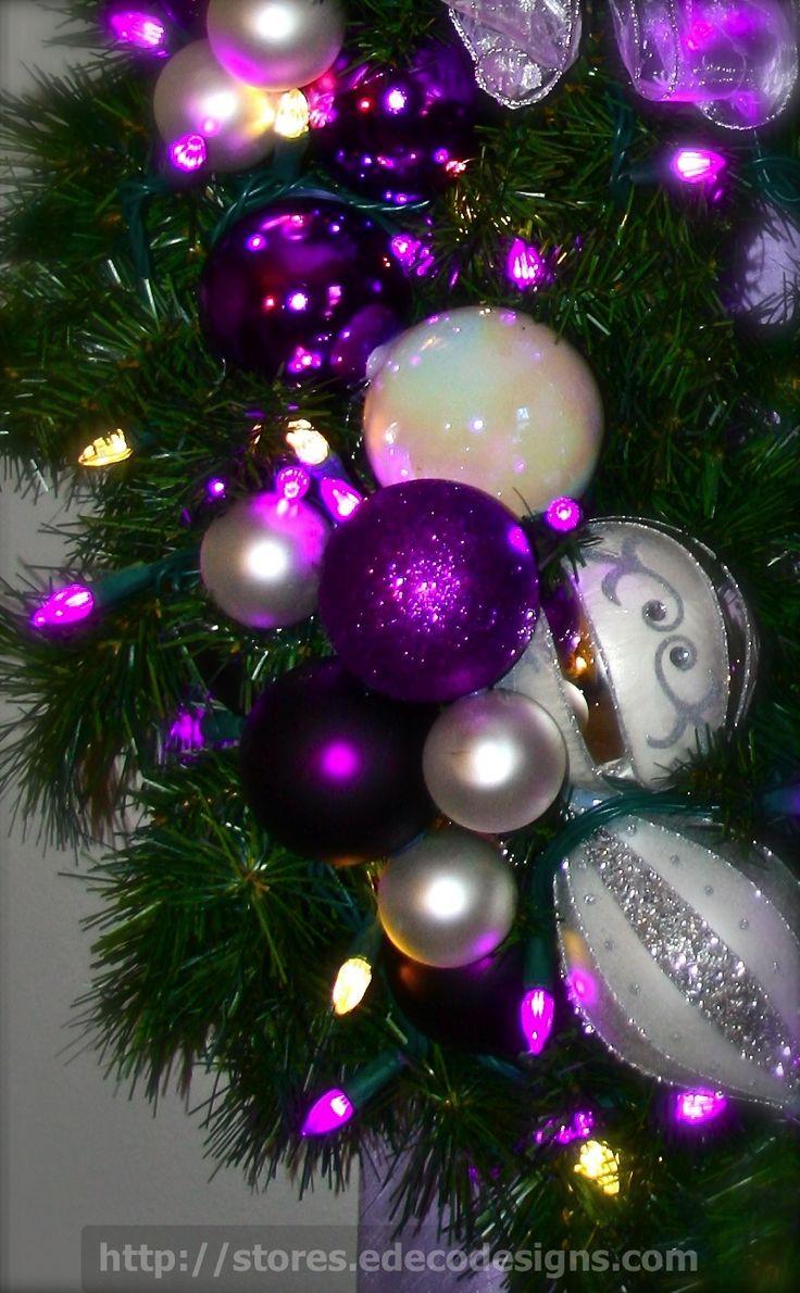 Royal Purple Christmas Wreath  | | ♫ ♥ X ღɱɧღ ❤ ~ ♫ ♥ X ღɱɧღ ❤  ♫ ♥ X ღɱɧღ ❤ ~ Wed 17th Dec 2014
