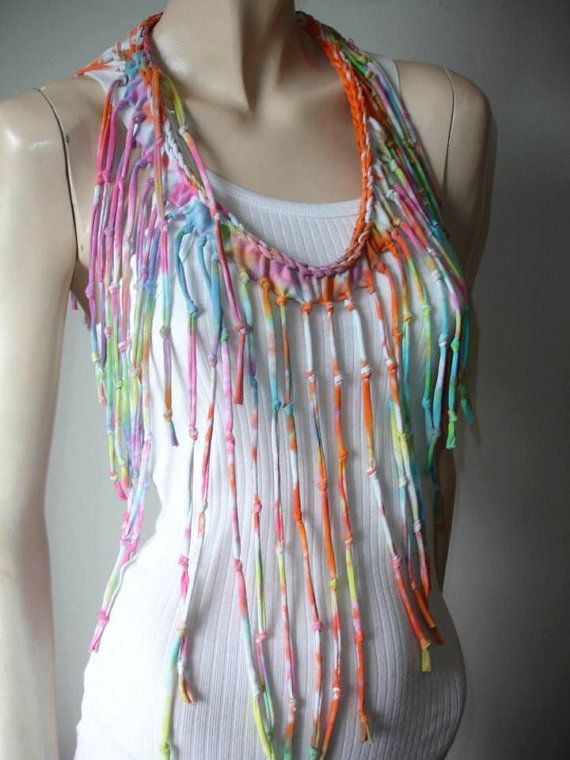 womens shredded braided fringed upcycled by JohnnyVegasOriginals