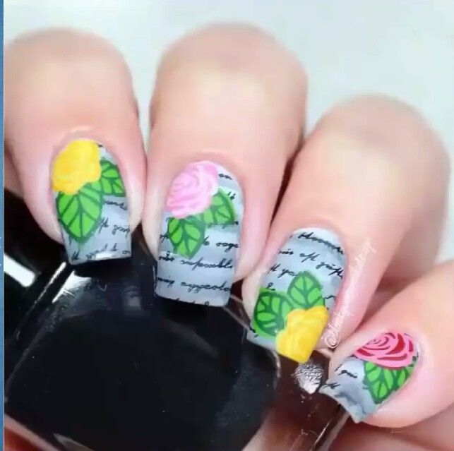 Check out the video from the channel nail art design channel and suscribe to them!!