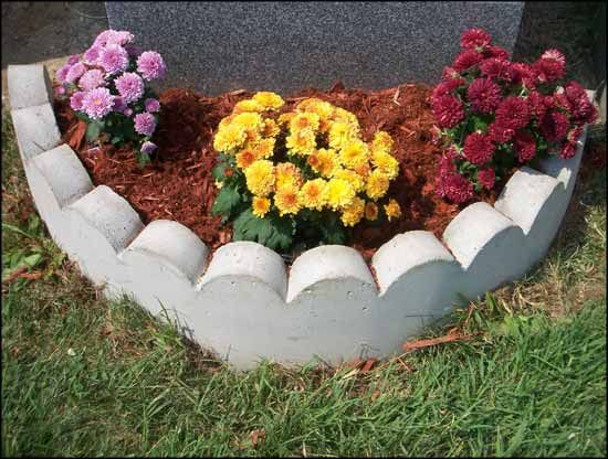 10 best images about memorial stone on pinterest for Flower bed arrangements
