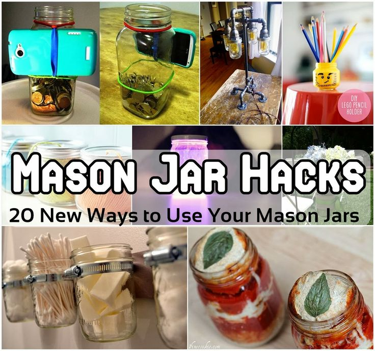 Mason Jar Hacks - 20 New Ways to Use Your Mason Jars