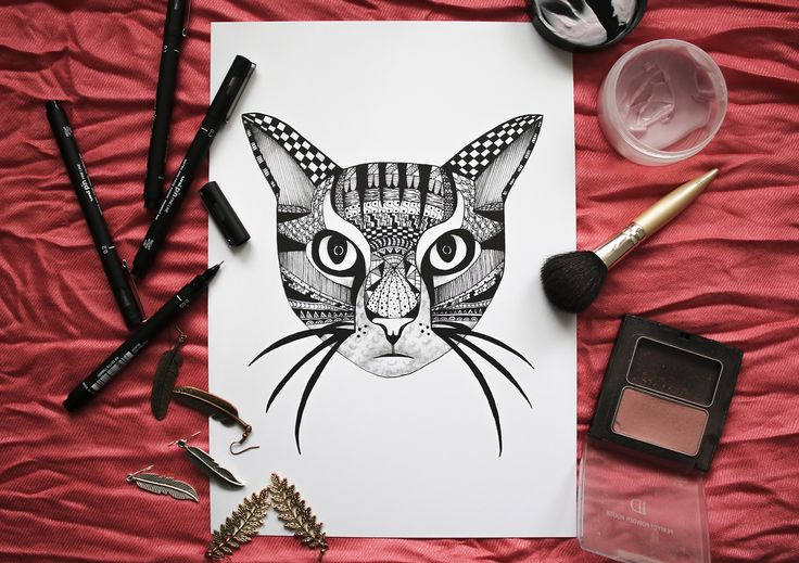KITTIKAT art print. @blacklinesart. www.blacklines.se #kitchen #rustic #kitchengoals #inspiration #details #wallart #tavelvägg #photowall #artist #drawing #art #blacklinesart #blackandwhite #illustration #homeinspo #artprints #artprint #poster #black #white #interior #scandinavian #swedish #design #patterns #zentangle #cat #cats #kitty #animal #animals