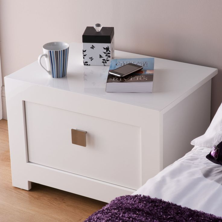 Unique Bedside Tables best 25+ white gloss bedside table ideas on pinterest | white
