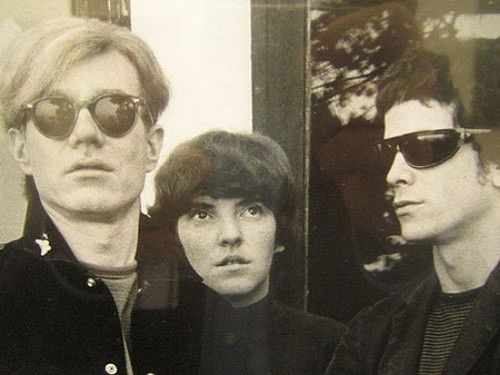 Andy Warhol, Maureen Tucker and Lou Reed