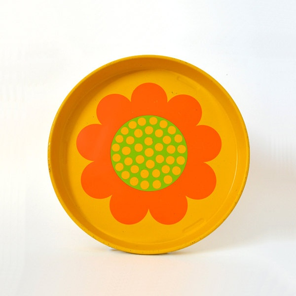 Mod Metal Flower Tray by Laurids Lonborg
