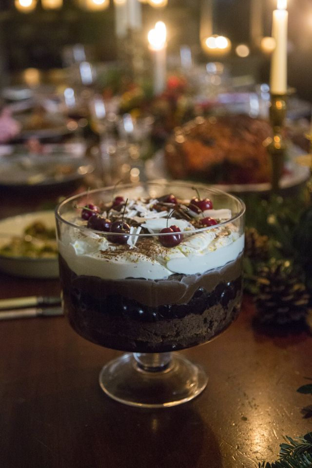 Donal Skehan | Black Forest Brownie Trifle