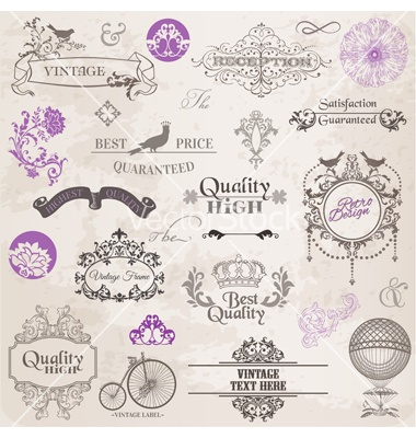 Set calligraphic design elements vector on VectorStock®  http://www.vectorstock.com/royalty-free-vector/set-calligraphic-design-elements-vector-901812