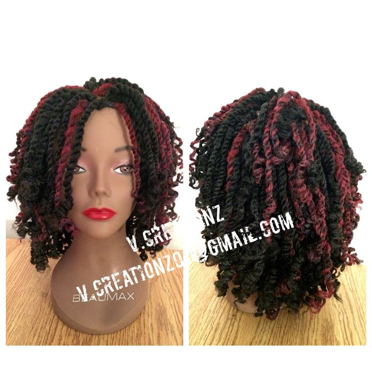 Crochet Hair Using : Crochet braids kinky twist wig using Cuban twist braid hair. Colour 1B ...