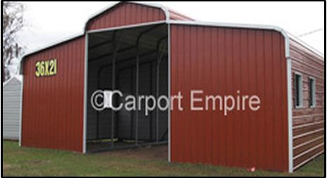 Horse Barns, Steel Barns, Livestock Barns - Carport Empire can build a Barn to the exact specifications you need! Contact Us for more information & pricing!