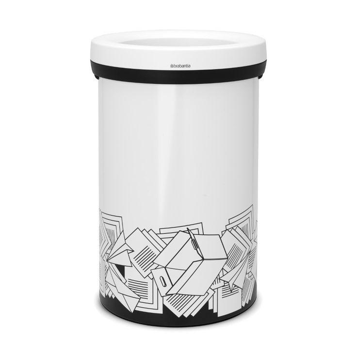 Open Top Bin afvalemmer, 60 liter, papier - White  | Brabantia