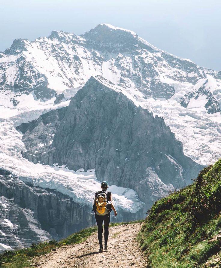 Walking the Eiger Trail Switzerland