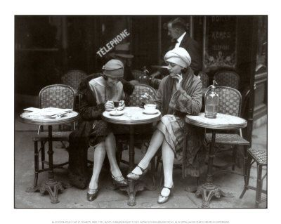 Vintage Cafe art - great black and white photography