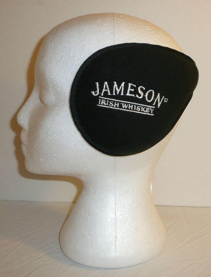 Jameson Irish Whiskey Black Wrap Around Earmuffs Ear Muffs Warmers Winter Promo #JamesonIrishWhiskey