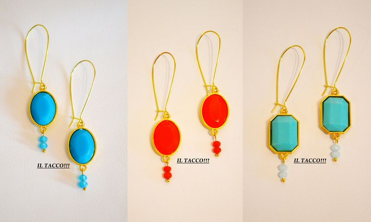 Earrings colourful elements, shapes and beads!!! Spring time!!! Il Tacco!!!
