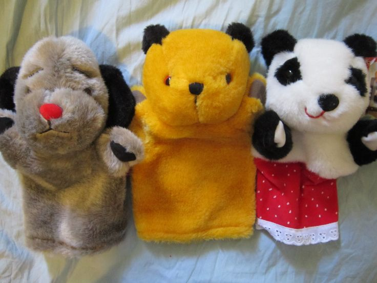 sooty, sweep and soo puppets- modern