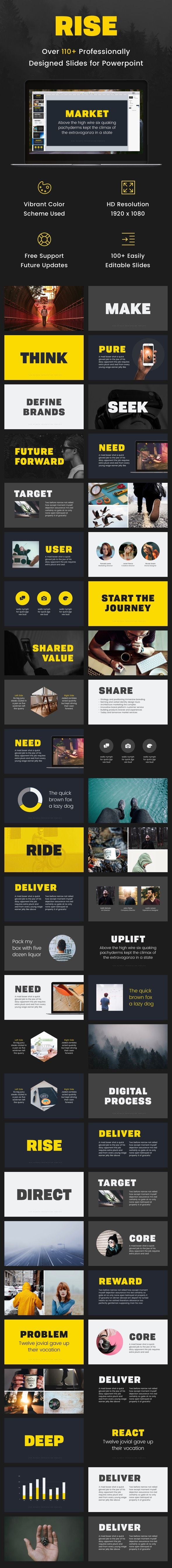 Rise - Powerpoint Presentation Template
