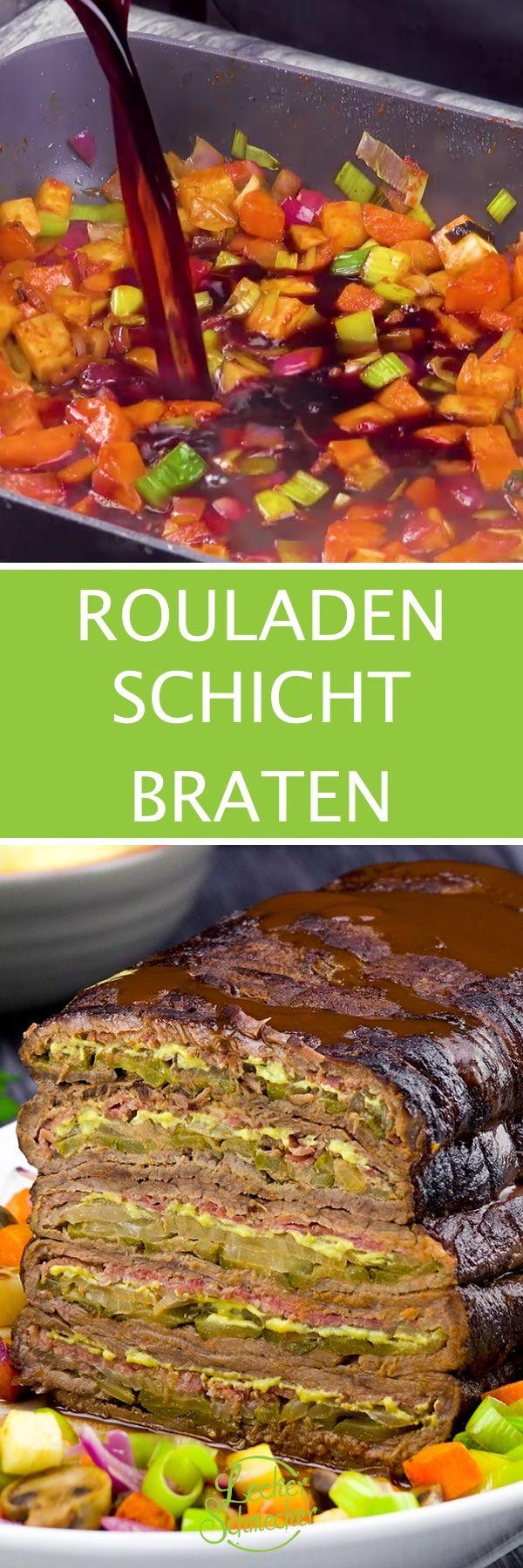 Rouladen-Schichtbraten-Rezept bringt herzhafte Hausmannskost auf den Tisch.