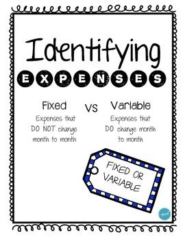 Students will need to identifying whether an expense is FIXED or VARIABLE.This is a great way to introduce fixed and variable expenses and or to check to see if students really have a good understanding between the two.Use them with your small groups, use them work for math centers, use them as quick assessments, etc.**I would greatly appreciate an honest review!