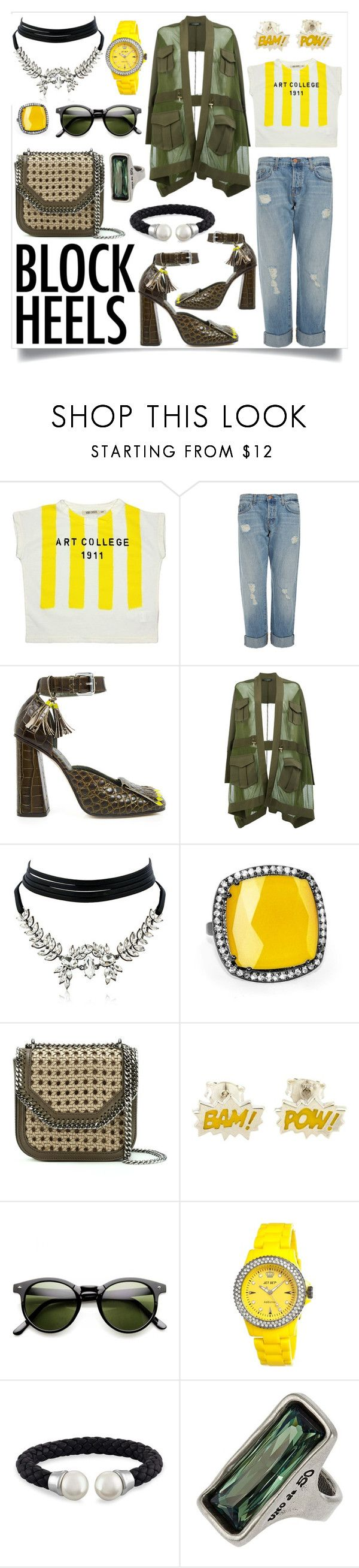 """Sun Powered"" by amyopt ❤ liked on Polyvore featuring Bobo Choses, J Brand, SUNO New York, Balmain, WithChic, Susan Hanover, STELLA McCARTNEY, Jet Set, Majorica and Uno de 50"