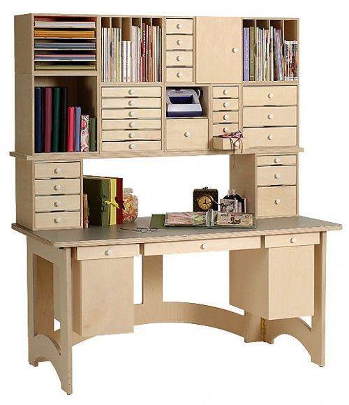 All About The Furniture: ScrapNcube Via Www.craftstorageideas.com