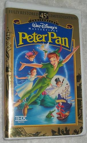 Peter Pan VHS Movie Clamshell Case Walt Disney 45th Anniversary Edition 786936057713 | eBay $5.79