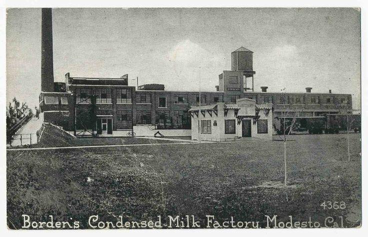 Borden's Condensed Milk Factory, Modesto, California 1922