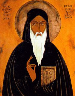 St. Bendict of Nursia (July 11, Patron Protector of Europe)