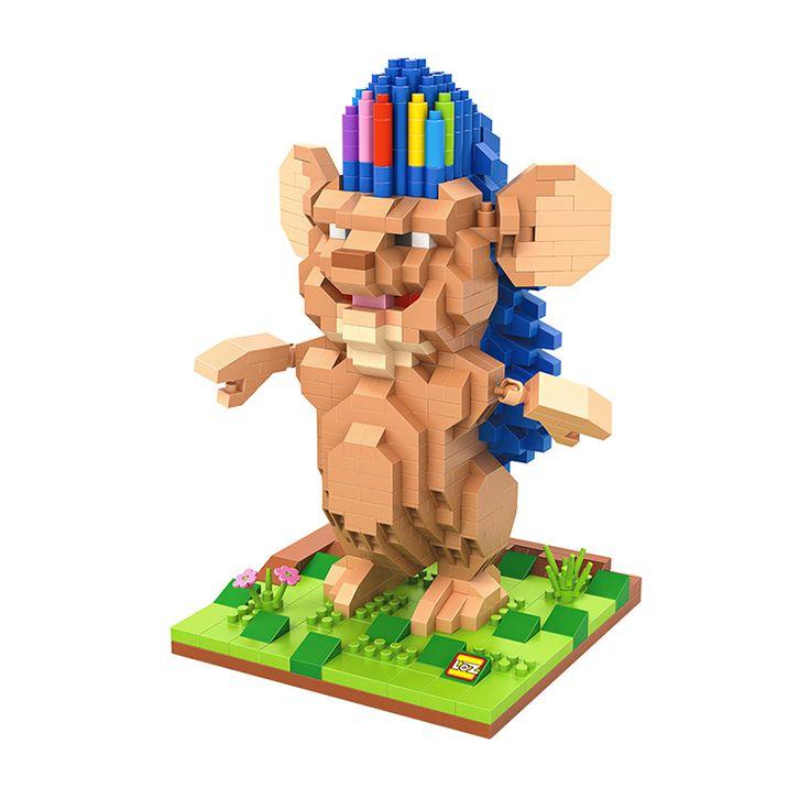 Бобби еж алмаз строительные блоки животные модель игрушки мини-поделки собранные кирпичи герои мультфильмов подарок ограниченным тиражом
