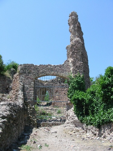 Fréjus, French Riviera: Butte St-Antoine (foundation ruin of a lighthouse built in the reign of Tiberius (AD 14-37))