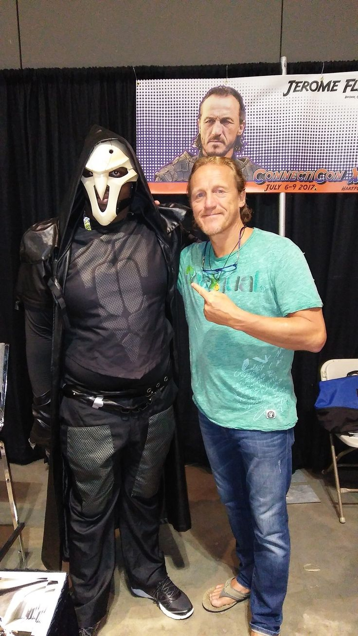 Me getting my picture taken with Jerome Flynn of Game of Thrones fame.