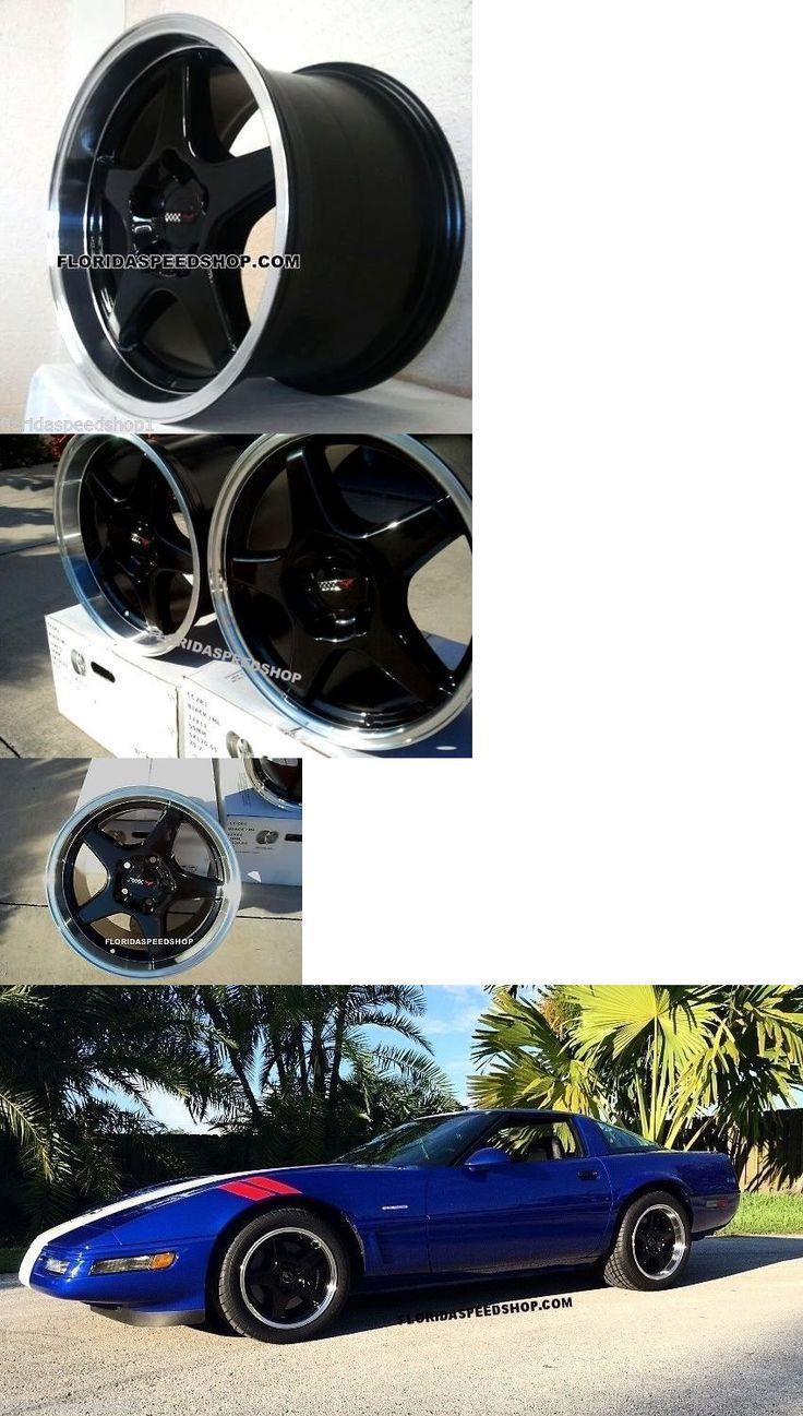 Auto parts general c4 zr1 black machined corvette wheels rims 2 17x11