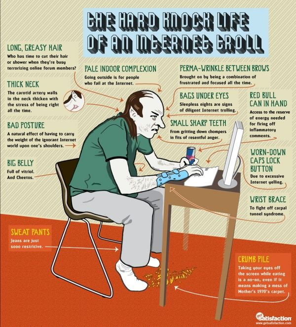 Infographics - The Hard Knock Life Of An Internet Troll
