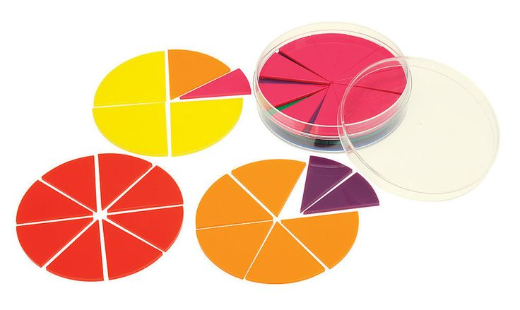 Fraction Circles Tiles Set 51 pieces Learn Fractions Maths Games ...