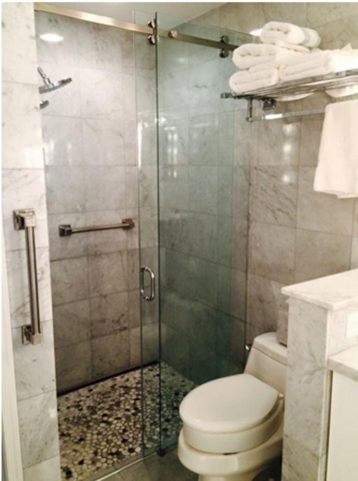 Serenity Shower Door Sliding Shower Door Pull Handle Round Handle Barn Slider Frameless Shower Door Frameless Shower Doors Shower Doors Frameless Shower