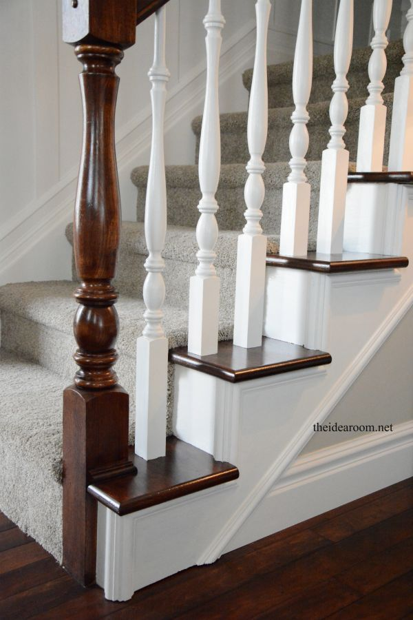 Best How To Stain An Oak Banister Banister Remodel Oak 400 x 300