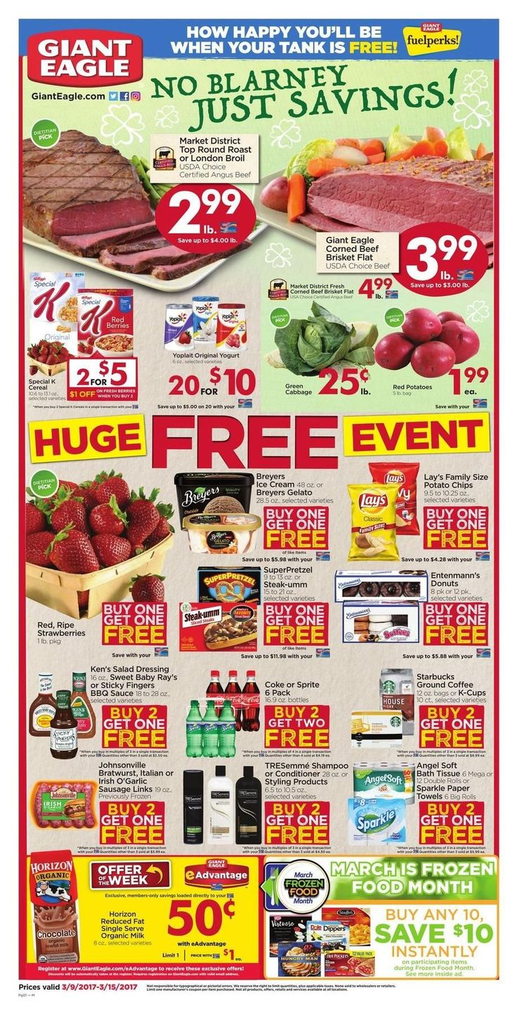 Giant Eagle Weekly Ad Circular Mar 9 - 15 United States #grocery #food #GiantEagle