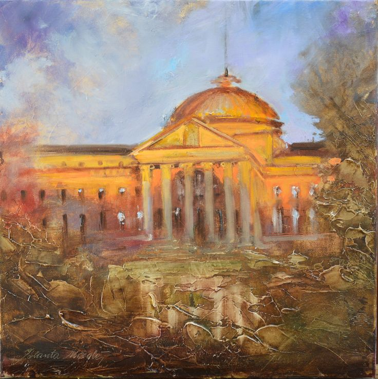 Wiesbadener Motive- Casino - 40x40 oil on canvas