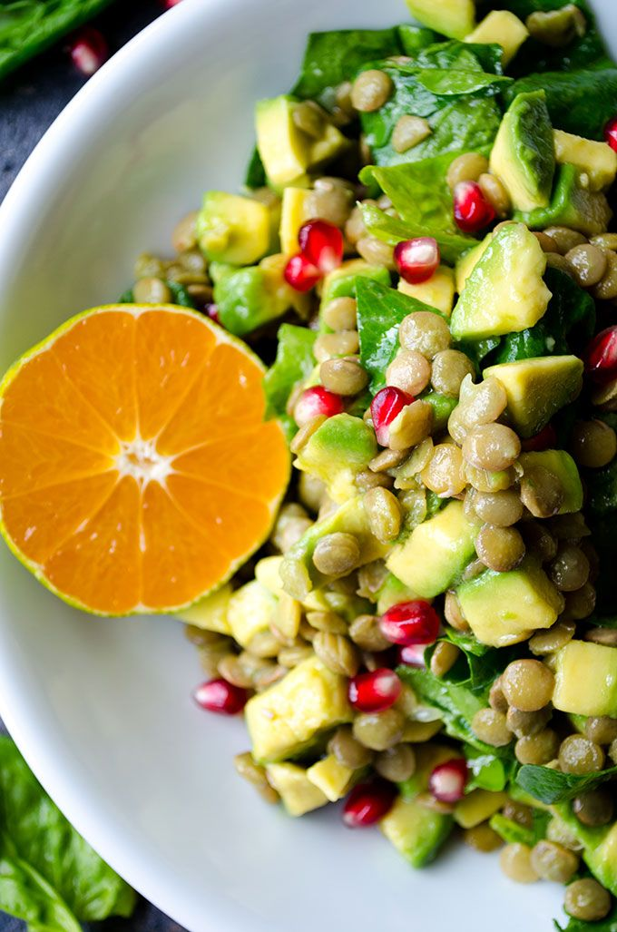Avocado Lentil Salad is packed with vitamins, so perfect for chilly fall days. T…