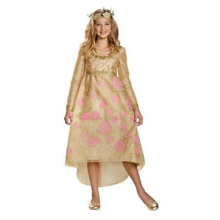 Disguise Costumes Girls Maleficent Aurora Coronation Deluxe Dress Costume 7-8 - 1 ea