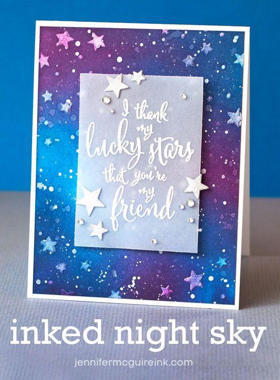 Inked Night Sky Video by Jennifer McGuire Ink