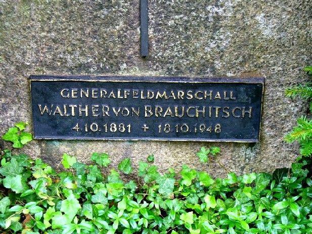 Heinrich Alfred Hermann Walther Von Brauchitsch - German Field Marshal.