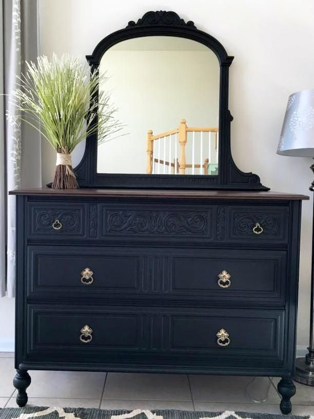 25 best ideas about black dressers on pinterest bedroom dressers black painted dressers and for Black painted bedroom furniture