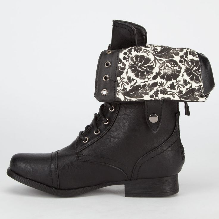 DIVA LOUNGE Jetta Womens Military Boots 235106100 | 90's Muse | Tillys.com