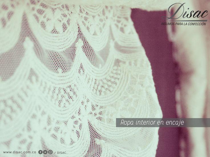Telas y franjas en velo, ideal para ropa interior.