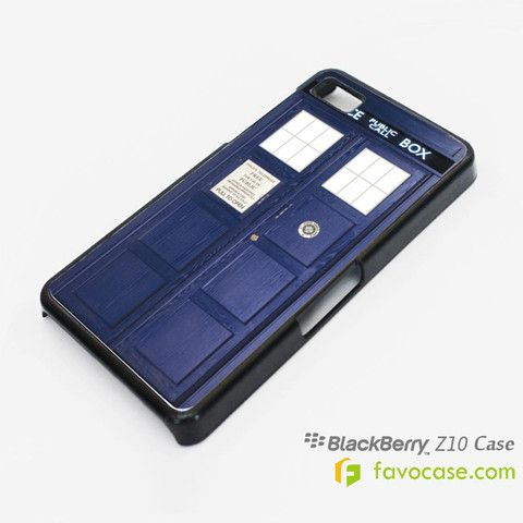 DR. DOCTOR WHO TARDIS BOX Pollice Call Box Blackberry Z10 Q10 Case Cover